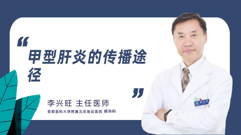 甲型肝炎的传播途径